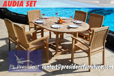 Audia Set Teak Garden Furniture Hot Sale