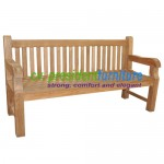 Teak Giant Staight Back Bench