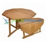 Teak Octogonal Butterfly Table 120
