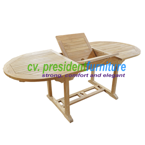 Teak Oval EXT Table 150 - 210 x 100
