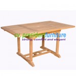 Teak Recta EXT. Table 120-180x120