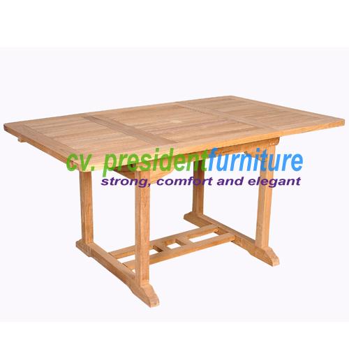 Teak Recta EXT. Table 120-180x120