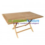 Teak Recta Folding Table 150 x 90