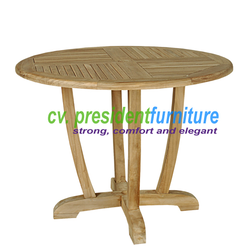 Teak Round Dinning Table Unique Legs 100