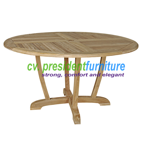 Teak Round Dinning Table Unique Legs 140