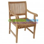 Teak Castle 2 Arm Chair
