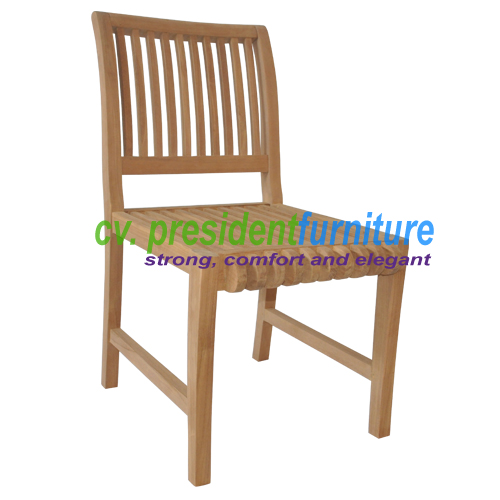 Teak Castle 2 Side Chair