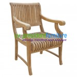 Teak Castle Arm Chair 1