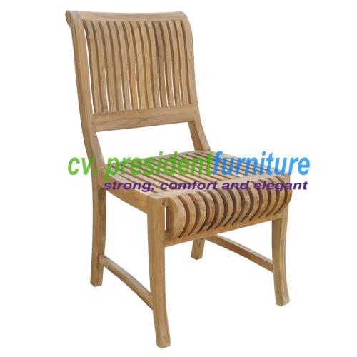 Teak Castle Side Chair 1