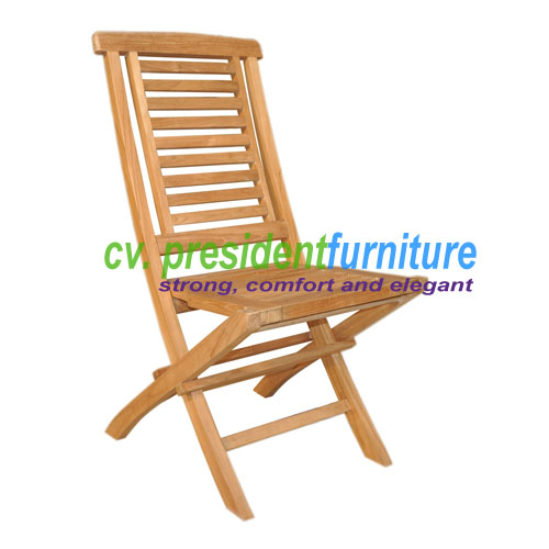 Teak Garuda Folding Chair