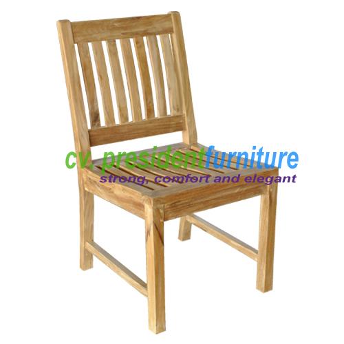 Teak Glost Side Chair