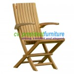Teak Karen Folding Arm Chair