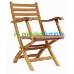 Teak Kosim Folding Arm Chair