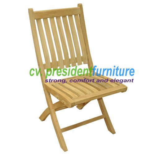 Teak New York Folding Chair