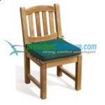 Teak Oval Back Side Chair