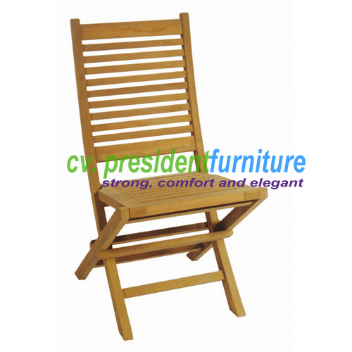 Teak Polo Folding Chair