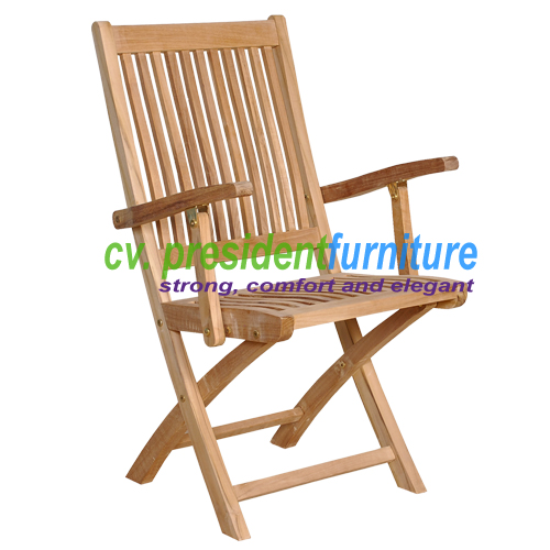 Teak Remi Folding W Arm Chair