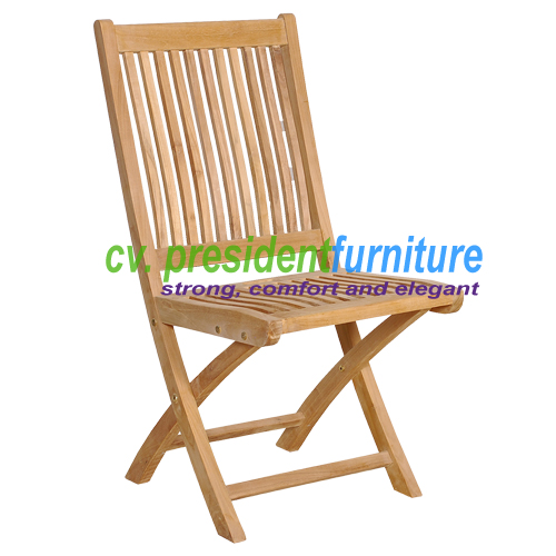 Teak Remi Folding Side Chair