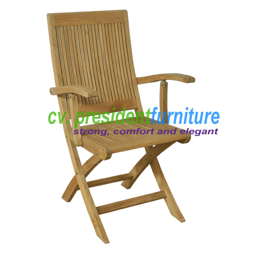 Teak Royal Folding Arm Chair