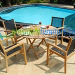 teak garden furniture Batyline Set