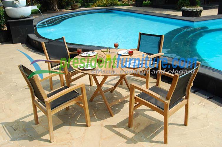 teak garden furniture Batyline Set