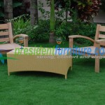 teak garden furnitre Becak Set