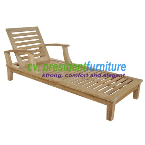 teak garden furniture Briana Lounger