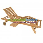 teak garden furniture Cross Slat Lounger