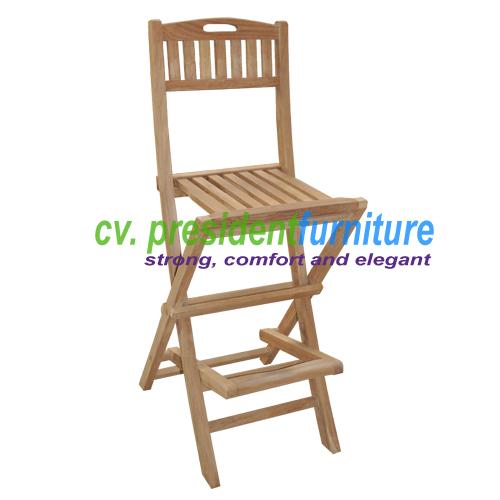 teak garden furniture Folding Bar Chair