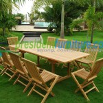 teak garden furniture Folding Chair 5