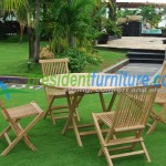 teak garden furniture Folding Set 2