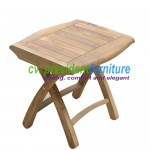 teak garden furniture Foot Bench 50x35x40