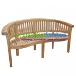 teak garden furniture Great Peanut Bench 150