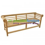 teak garden furniture Half Marlboro Bench 180
