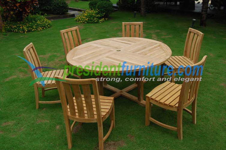 teak garden furniture Heer Chair Set