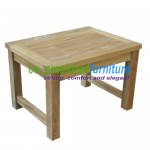 teak garden furniture Mini Recta Table 60