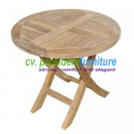 teak garden furniture Mini Round Fold