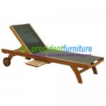 teak garden furniture Moderen Batyline Lounger