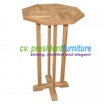teak garden furniture Octogonal Bar Table