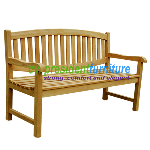 teak garden furniture Oval Back Bench 150
