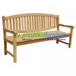 teak garden furniture Oval Back Bench 180