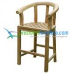 teak garden furniture Peanut Bar Chair