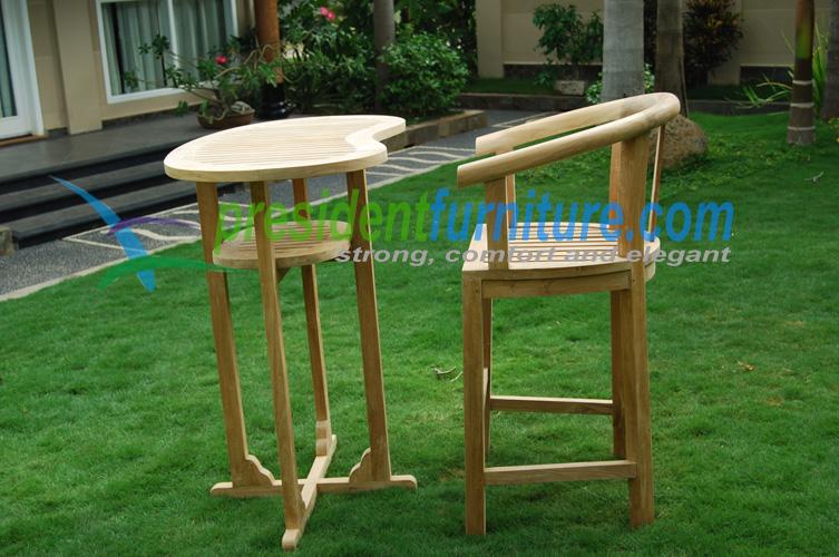 teak garden furniture Peanut Bar Set
