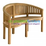 teak garden furniture Peanut Standart Bench 150