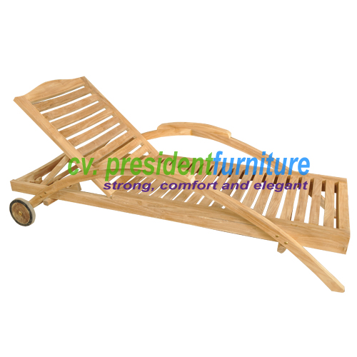 teak garden furniture President Lounger
