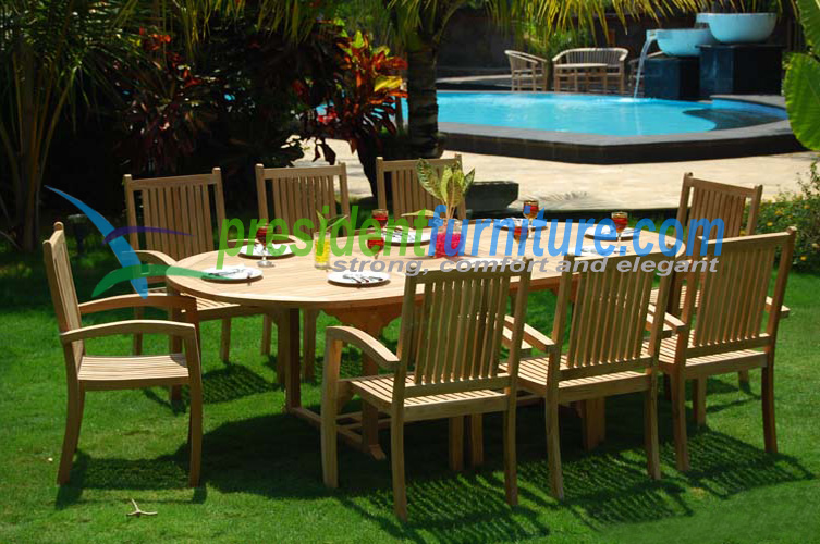 teak garden furniture President Set 4