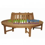 teak garden furniture Round Tree Bench 200