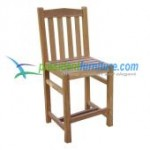 teak garden furniture Simple Bar Chair