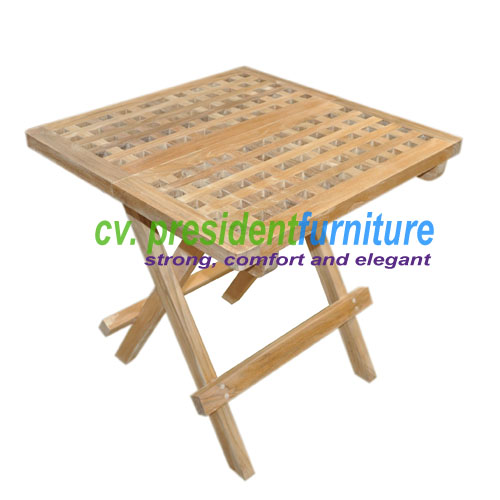 teak garden furniture Square Picnic Table 50X50X45