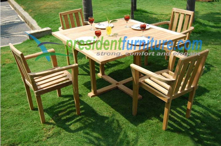 teak garden furniture Stacking Set